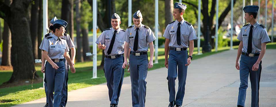 Cadets walking
