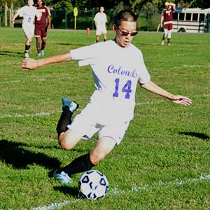 Cadet playing soccer