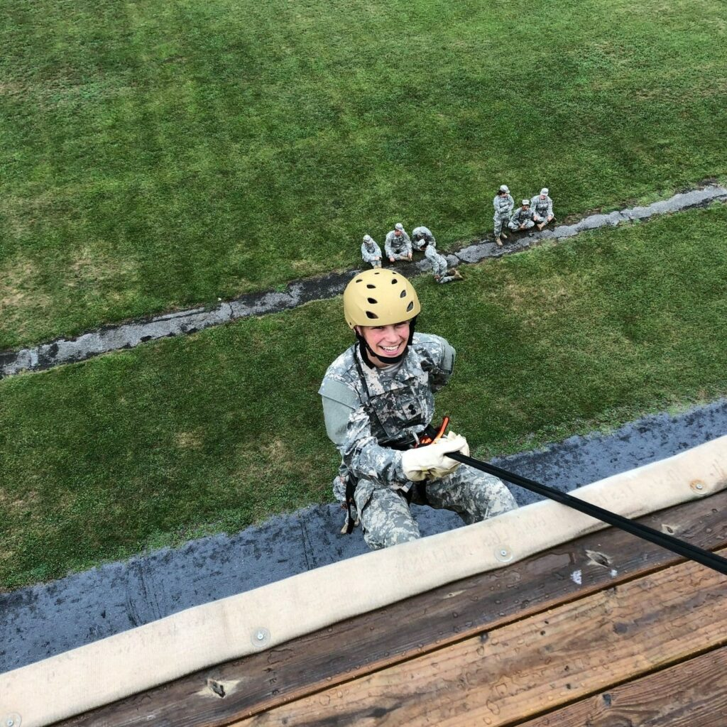 A young JROTC student enjoying activities at the top military school for kids in Northern Virginia